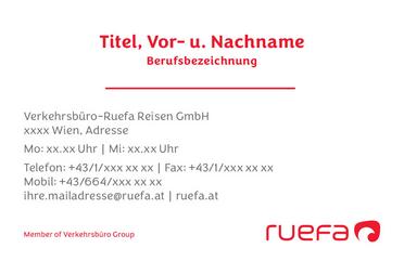 Ruefa Visitenkarten Wien Ruefa